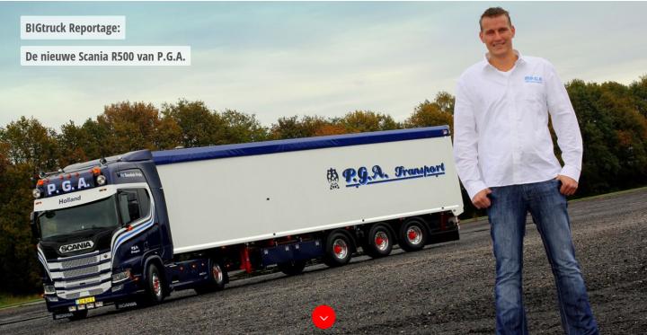 De nieuwe Scania R500 van P.G.A.